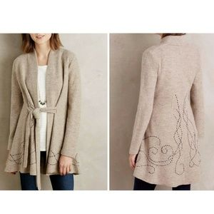 Embroidered Boiled Wool Sweater Coat by Rosie Neir
